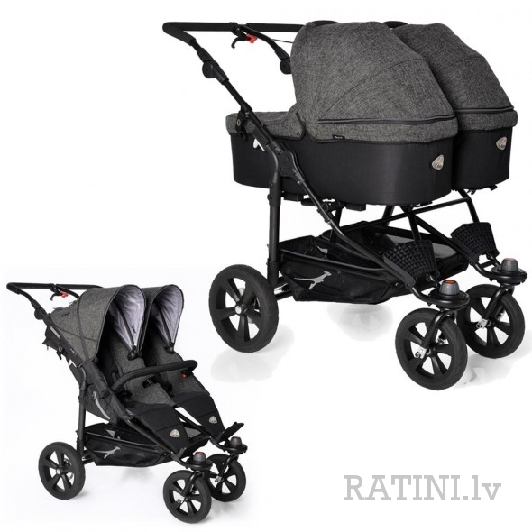 Twin Trail + Duo X kulbas 2 gb. Premium Anthracite